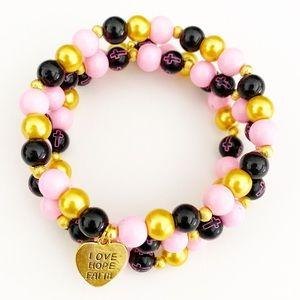 Handmade Christian Bracelet, Faith Hope Love Set